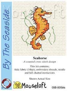 Mouseloft Seahorse By The Seaside cross stitch kit